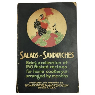 Salads and Sandwiches 1920 Antique Booklet