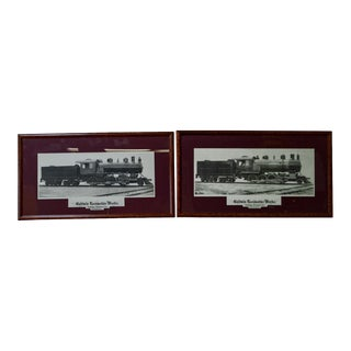 Baldwin Locomotive Works Pair of Vintage Framed Train Prints
