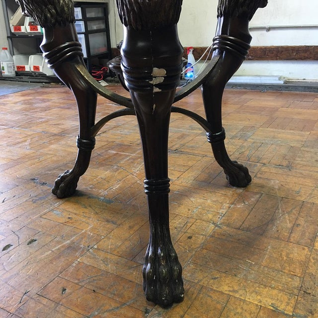 Regency-Style Glass Top Table - Image 8 of 11