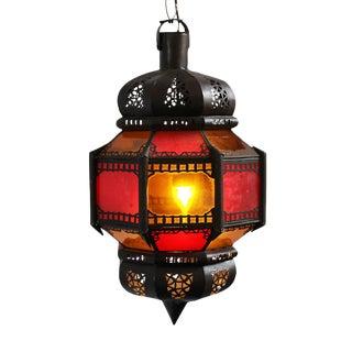 Red & Amber Moroccan Lantern