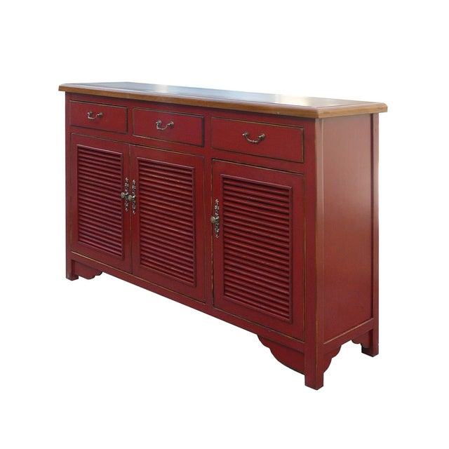 Image of Chinese Red Shutter Door Console