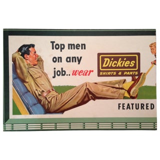 Vintage Post-War Dickies Menswear Ad Sign