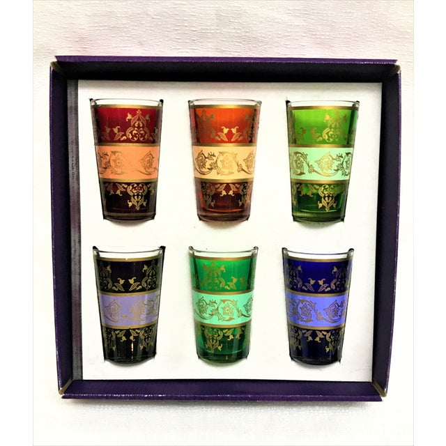 Moroccan Handpainted Tea Glasses - Set of 6 - Image 3 of 5