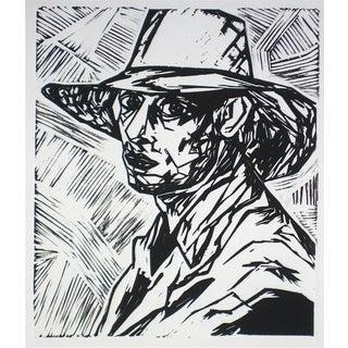 """Duncan Grant I"" Linoleum Print by R. Delamater"