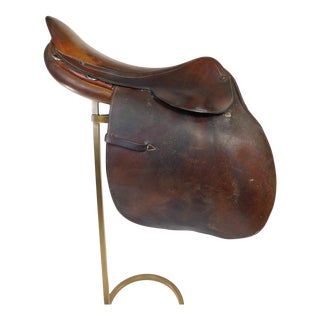Vintage Steinkraus Hermès Leather Riding Saddle