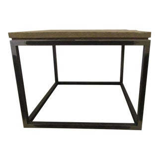 Gold & Williams Brushed Steel Accent Table