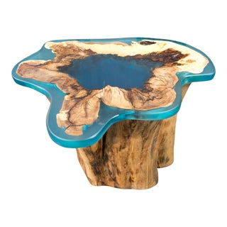 Modern Organic Tree Stump Resin Table