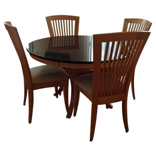 Granite-Top Dinette & 5 Side Chairs