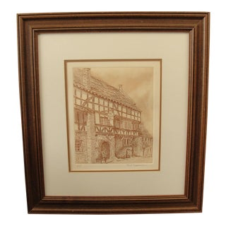 Vintage Etching the George Inn by Paul Tappenden Artist Proof
