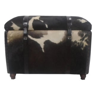 Hair on Hide Rectangular Storage Bench