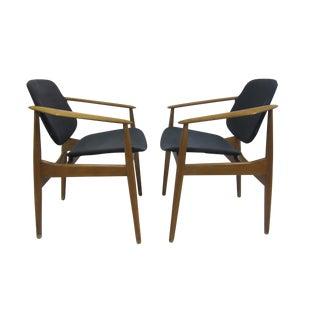 Arne Vodder Arm Chairs - Pair