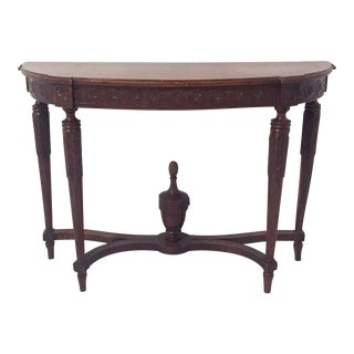 Antique Mahogany Demi-lune Table