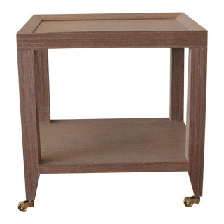 Bungalow 5 Lacquered Grasscloth Petit Tea Table