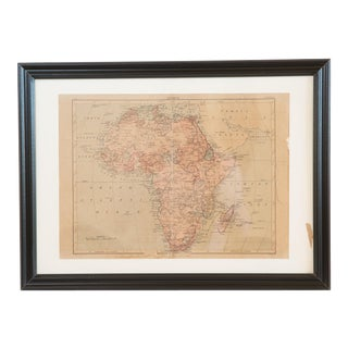 Hand Colored Antique Map of Africa