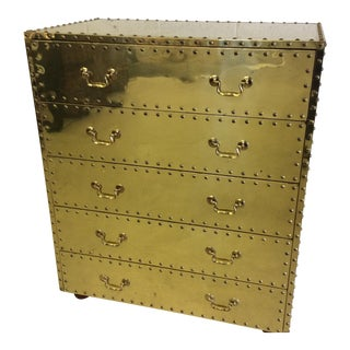 Sarreid Brass Chest of Drawers