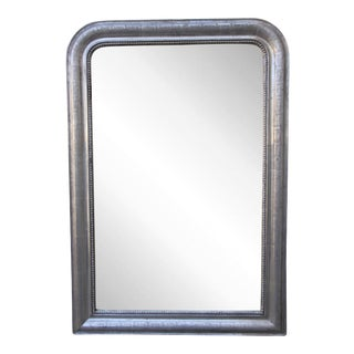 19th Century Louis Philippe Silvered Mirror