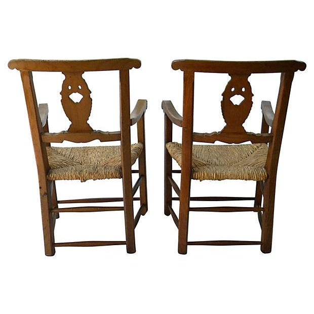 Carved-Back Swan Chair - Pair - Image 6 of 6