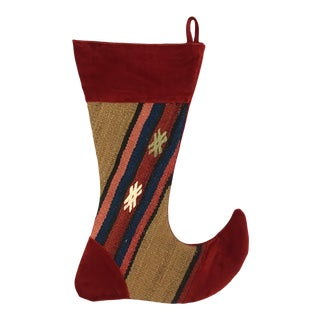 Large Kilim Christmas Stocking | Elf
