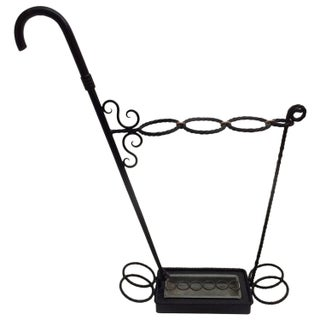 French 1950s Wrought Iron Umbrella Stand