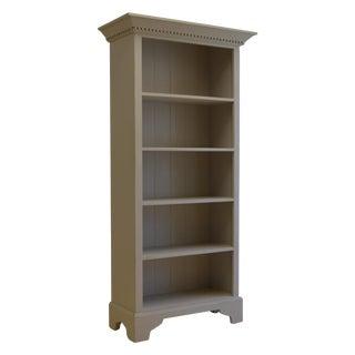 English Grey Bookcase