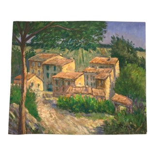 French Country Landscape Oil Painting