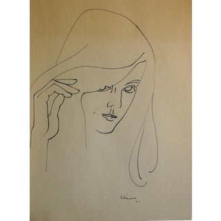 1967 Adele Chase Female Study Drawing