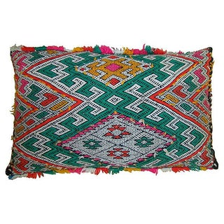 Moroccan Pillow with Berber Tattoo Design