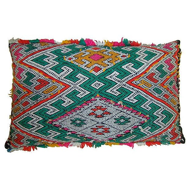 Moroccan Pillow with Berber Tattoo Design - Image 1 of 2
