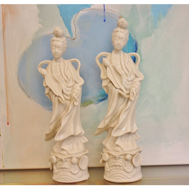 Blanc De Chine Figurines - A Pair - Image 5 of 5