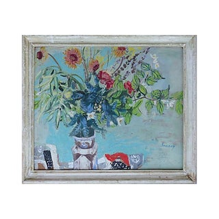 Mid-Century Hungarian Floral Still Life Painting