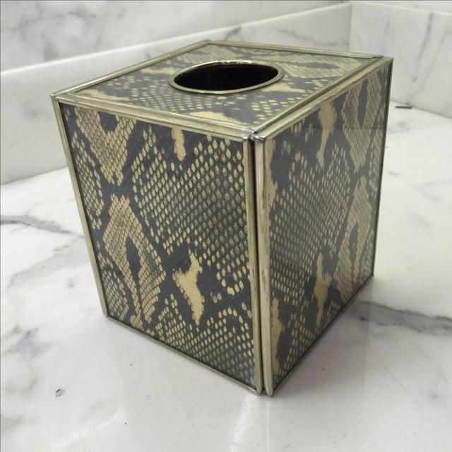 Image of Jm Piers Python Print Tissue Holder