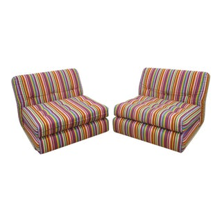 Mario Bellini Style Slipper Chairs - A Pair