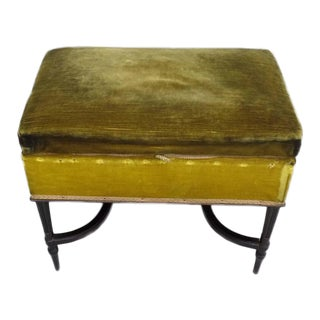 French 1940s Modern Neoclassical Piano Bench