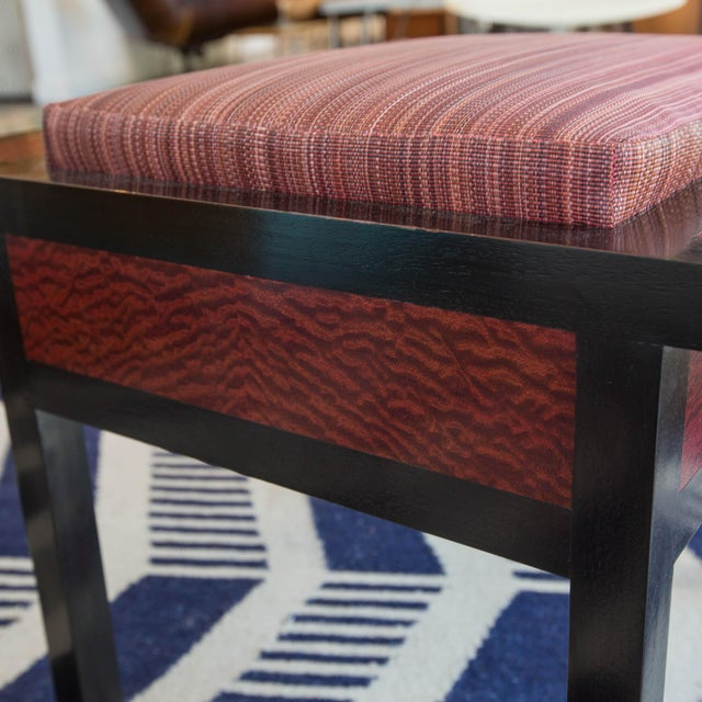 Holly Hunt African Mahogany Storage Stool - Image 4 of 5