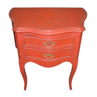 French Country Red Nightstand