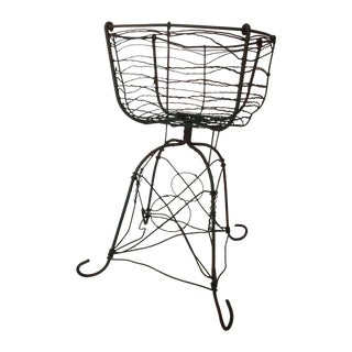 Antique Wirework Plant Stand