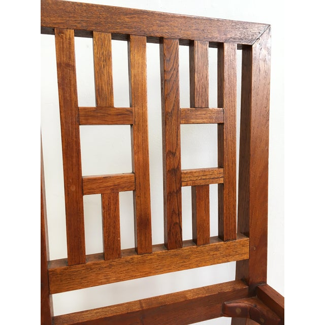 Antique Arts & Crafts Chairs- Hand Caned Craftsman Oak - Image 8 of 11