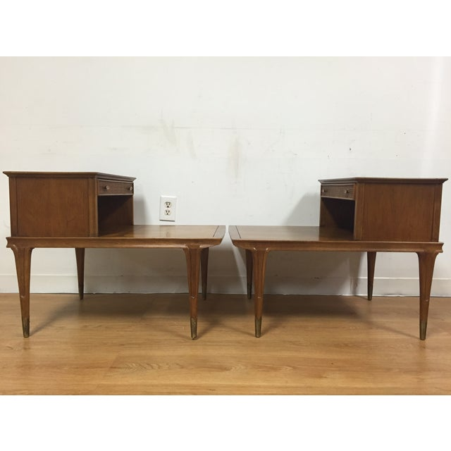 Mid Century Sculpted End Tables - a Pair - Image 7 of 11