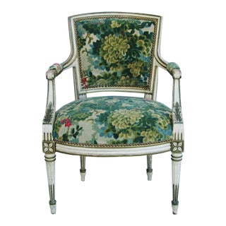 Scalamandre Marly Velvet Tapestry Fabric Armchair