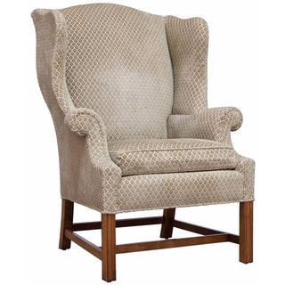 Baker Chippendale-Style Wing Chair
