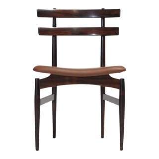 Poul Hundevad Sculpted Brazilian Rosewood Danish Dining Chairs