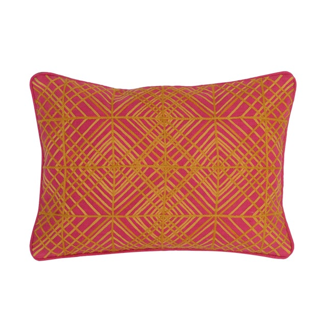 Geometric Fuschia 14 X 20 Pillow - Image 1 of 2