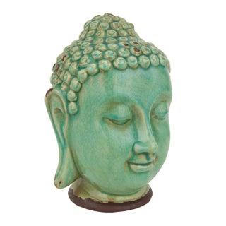 Turquoise Thai Buddha Head Statue