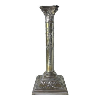 Antique Silver Candlestick Lamp-Hallmarks