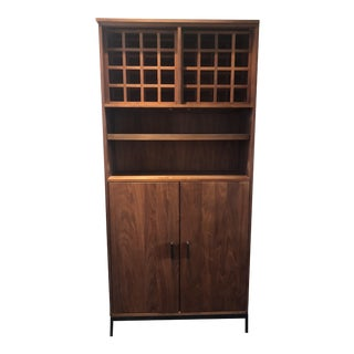 Room & Board Walnut Linear Bar Cabinet