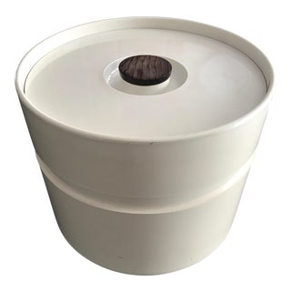 Vintage Mid-Century White Ice Bucket