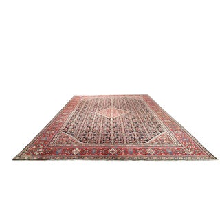 Persian Nanaj Knotted Rug - 10′10″ × 17′10″