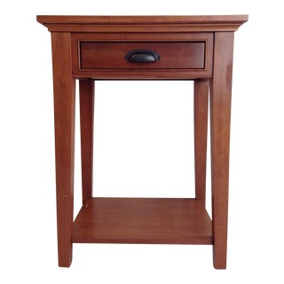 Restoration Hardware Cherry Wood End Table