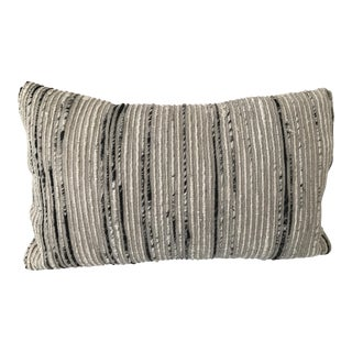 Loloi Black, Silver, & Gray Lumbar Pillow