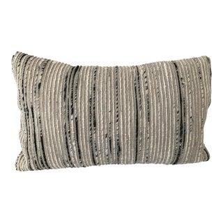 Loloi Black, Silver, & Gray Lumbar Pillow